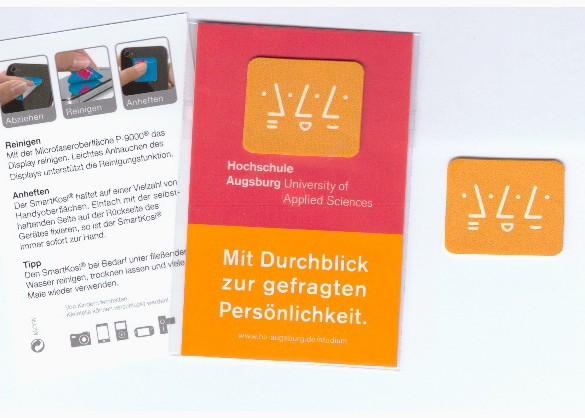 Mobile Cleaner/Display-Reinigungspad - Druck: 4-farbig - Pad: 3x2,5cm - Karte: 8,5x5,5cm